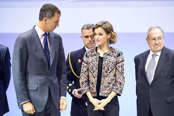 King Felipe of Spain and Queen Letizia of Spain deliver accreditations of the 6th edition of Honorary Ambassadors of the Brand 'Spain'