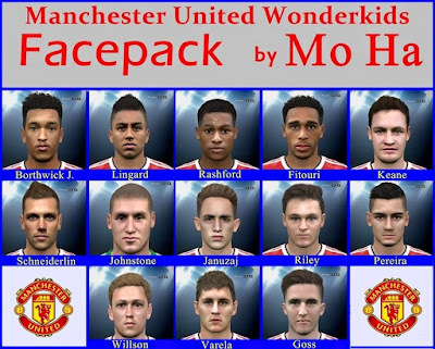 PES 2016 Manchester United Wonderkids Facepack by Mo Ha