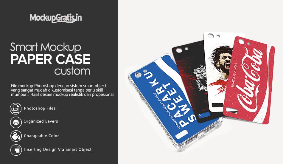 Mockup Paper Case Custom Gratis PSD File