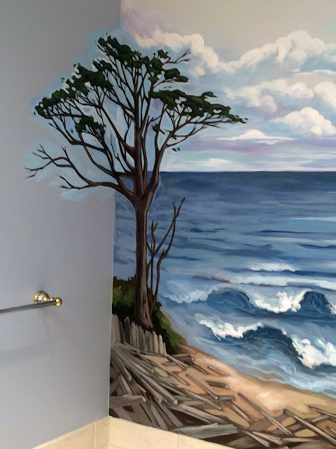 kalaloch beach, kalaloch lodge, ocean mural, pacific ocean mural, oregon coast mural, washington coast mural, pacific northwest mural