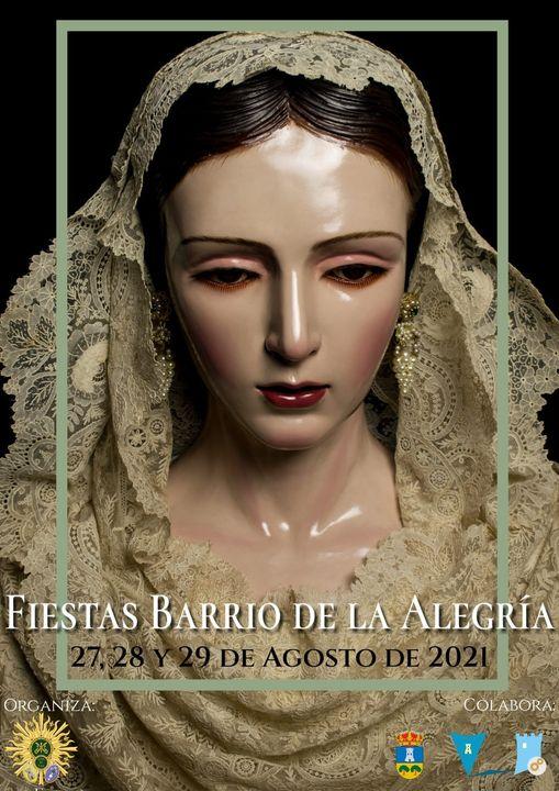 Cartel de la Patrona del Barrio de la Alegria 2021. Málaga
