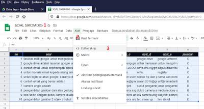 Cara Cepat Membuat Soal Online Ber-Token Dengan Google Script