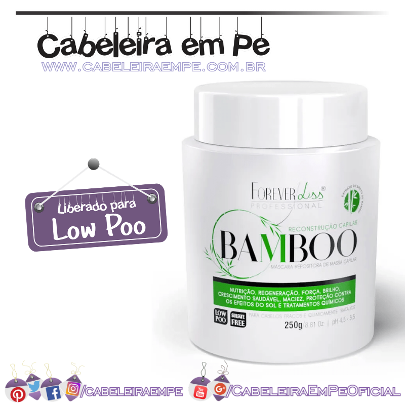 Máscara de Bamboo Regeneradora - Forever Liss (Low Poo)