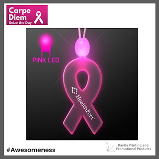 Pink Ribbon Light Up Necklaces