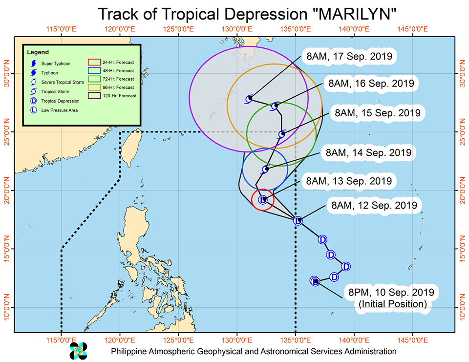 'Bagyong Marilyn' PAGASA weather update September 12, 2019