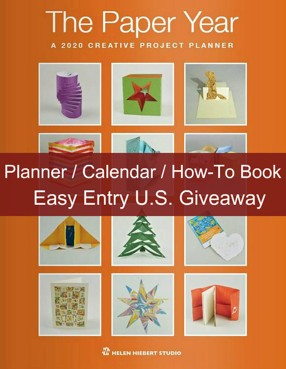 cover of The Paper Year, a 2020 creative project planner showing twelve paper craft projects