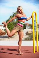 Female bodybuilders muscular calves