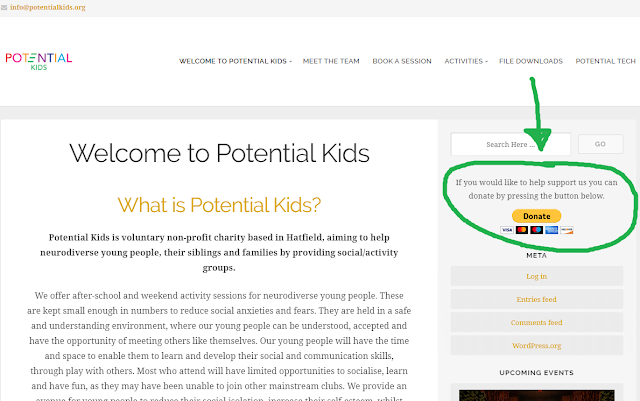 Potential Kids website
