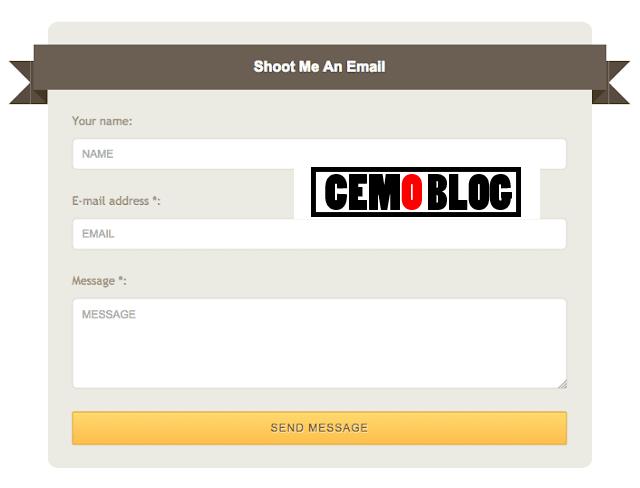 blogger iletişim formu tasarımı