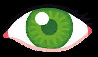 いろいろな色の目のイラスト(緑)