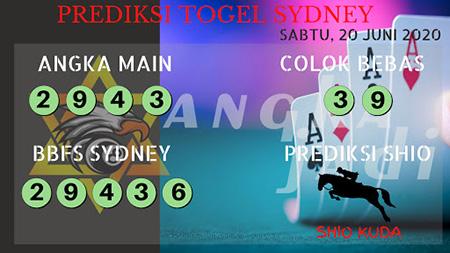 Prediksi Angka Jadi Sydney Sabtu 20 Juni 2020