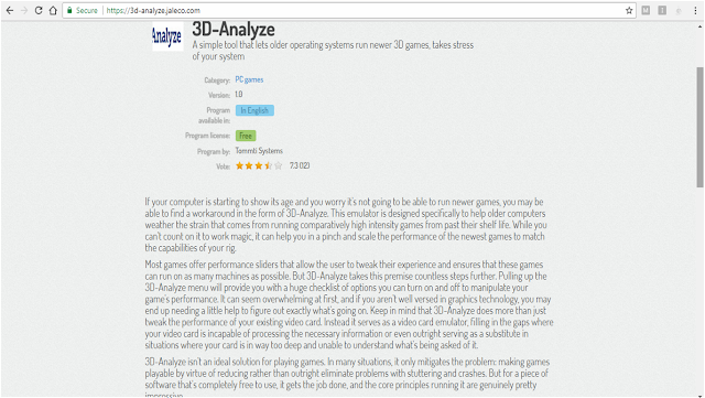 3D Analyzer best settings