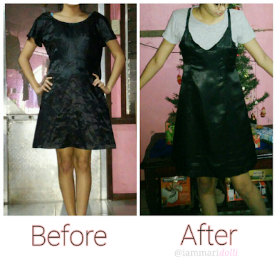 Slip dress, refashion, diy