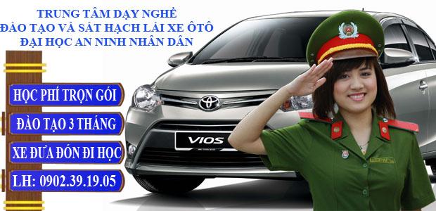 đào tạo và sát hạch lái xe ô tô đại học An Ninh Nhân Dân