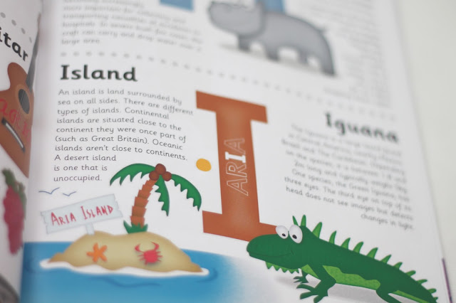imagery inside children's personalised encyclopedia