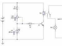 Cara Kerja Rangkaian Sensor Cahaya Menggunakan LDR