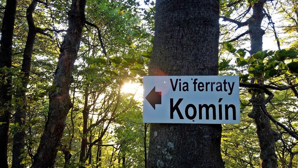 Komin Skalka pri Kremnicy via ferraty Słowacja
