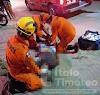 Funcionário da Prefeitura de Delmiro sofre grave acidente motociclístico na Av. Juscelino Kubistchek