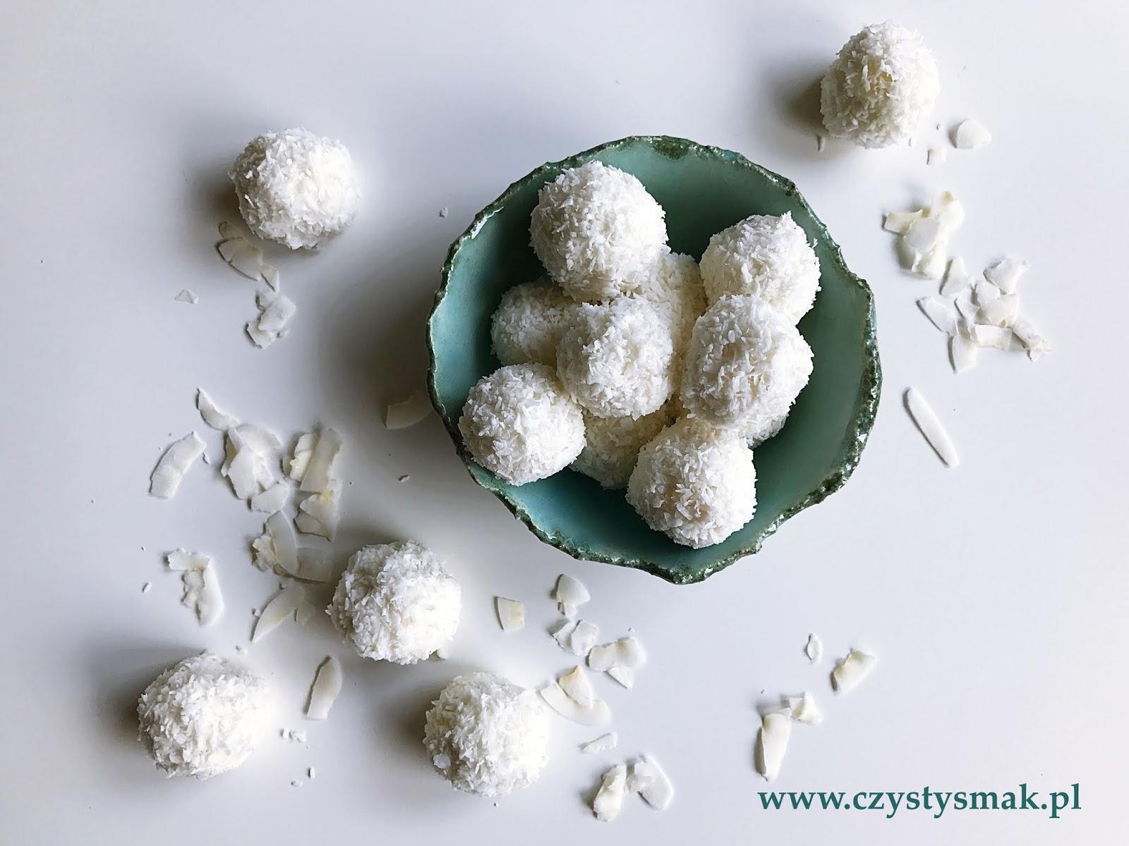 Trufle z wiórków kokosowych