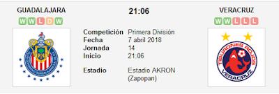 Chivas de Guadalajara vs Veracruz en VIVO