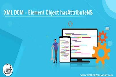 XML DOM - Element Object hasAttributeNS Method