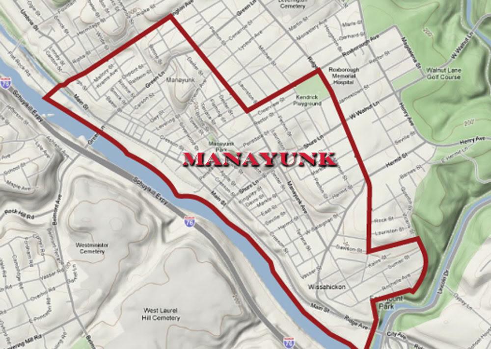 Street Philadelphia Neighborhoods Map