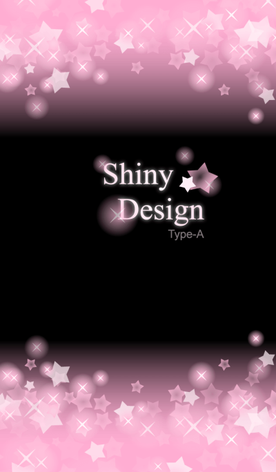 Shiny Design Type-A -Baby Pink & Star-