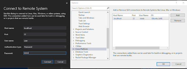 Visual studio connect to linux subsystem