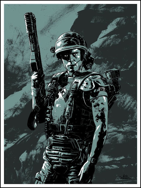 Michael Biehn as Cpl. Dwayne Hicks, Aliens - Illustration Nick Derington