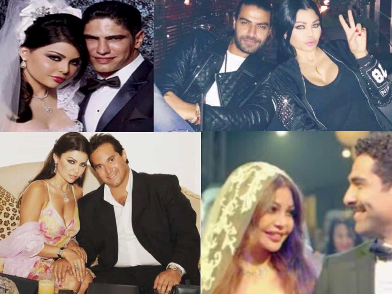 تعرف علي جميع أزواج الفنانة اللبنانية هيفاء وهبي