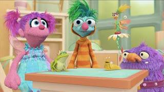 Sesame Street Episode 4410 Firefly Show season 44, Abby's Flying Fairy School Pet Day, Abby Cadabby, Blögg, Gonnigan, Mrs. Sparklenose