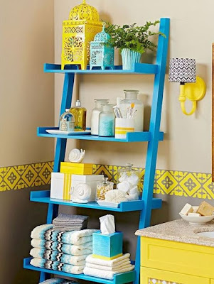 Color choice idea for nice bathroom storage