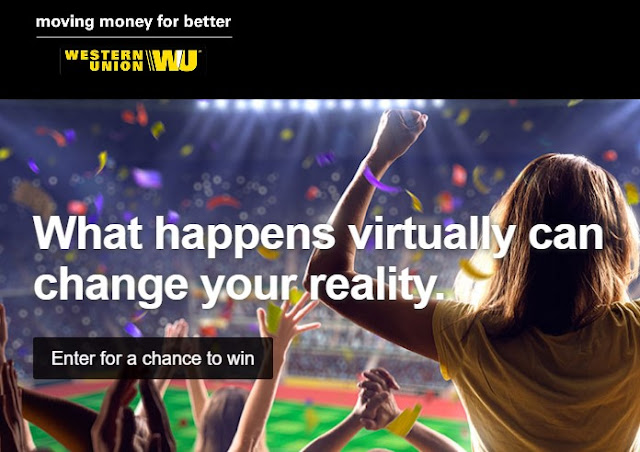 Western Union wants you to enter once for a chance to win a trip to LA for a VIP meet and greet with exclusive Soccer players and runner up winners will get signed soccer balls, too!