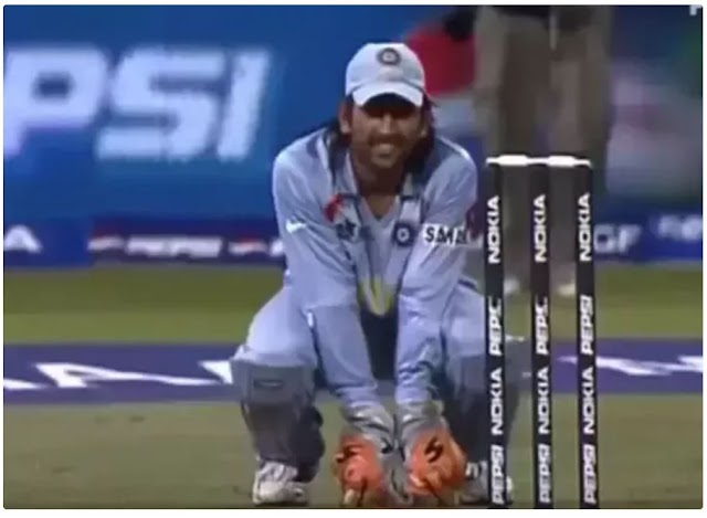 897. Do you know why Dhoni knelt and kept wickets during the India Vs Pakistan bowl out in T20 WC 2007?
