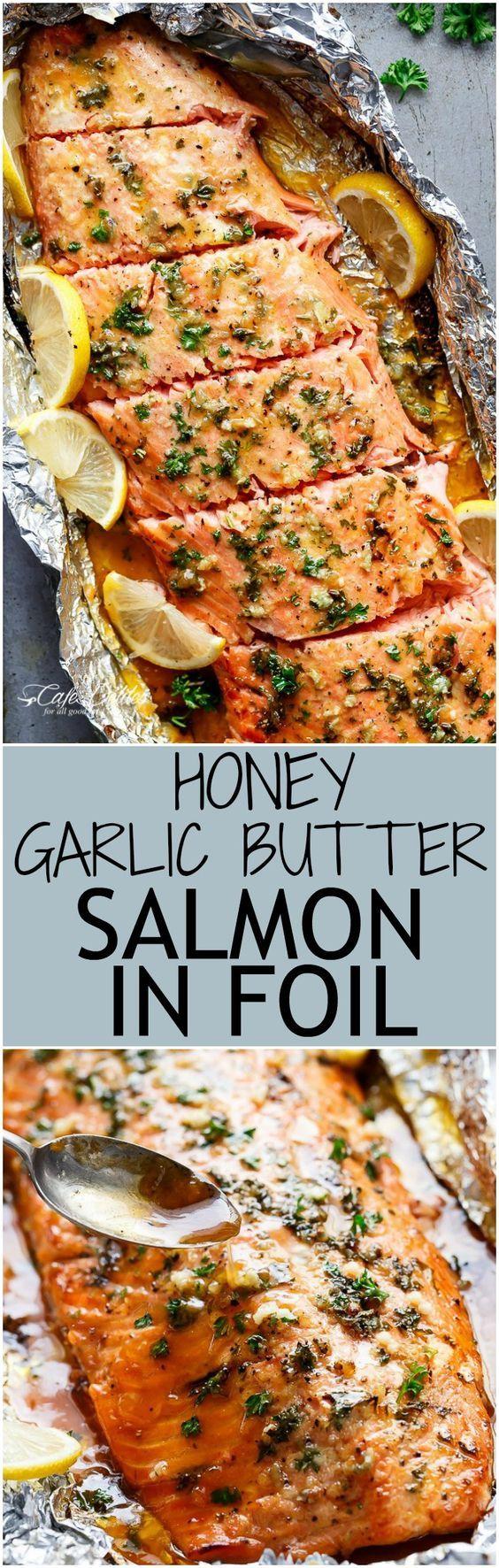 honey garlic butter salmon in foil recipe