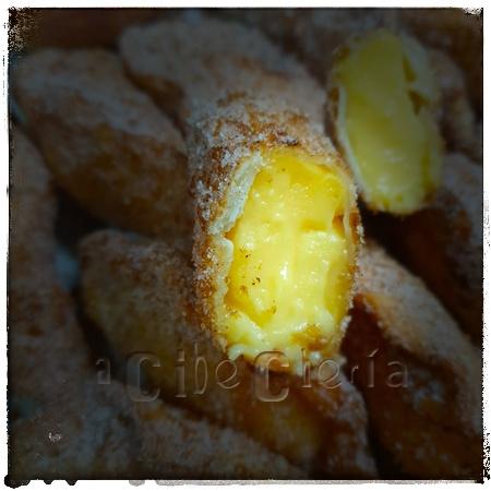 Obleas de empanadilla rellenas de flan absolutamente deliciosas
