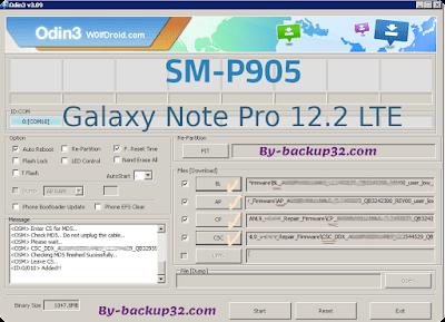 سوفت وير هاتف Galaxy Note Pro 12.2 LTE موديل SM-P905 روم الاصلاح 4 ملفات تحميل مباشر