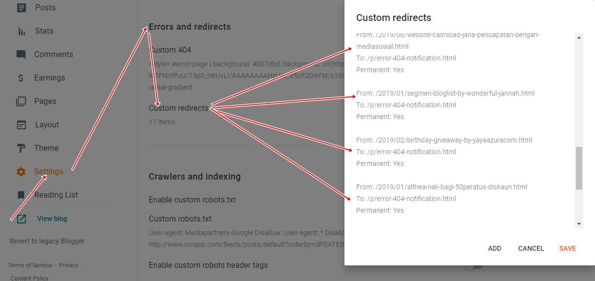Tips Atasi Masalah Error 404 Pada Blogspot