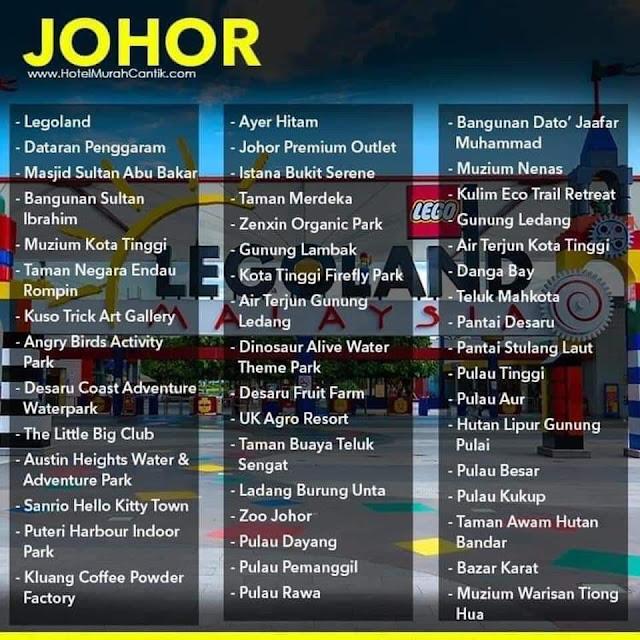 50 Tempat-Tempat Menarik Destinasi Pelancongan Dalam Negeri Johor