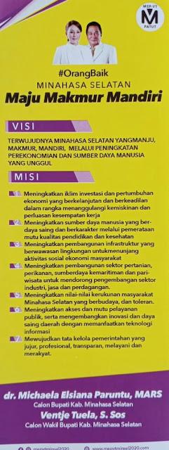 Paslon Nomor Urut 1 MEP VT