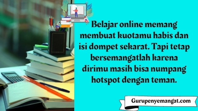 Kata-kata Belajar Online di Rumah yang Lucu
