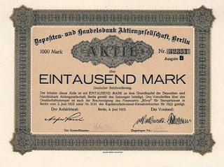 Aktie certificate from the Depositen und Handelsbank A.G. (from Freunde Historischer Wertpapiere site)