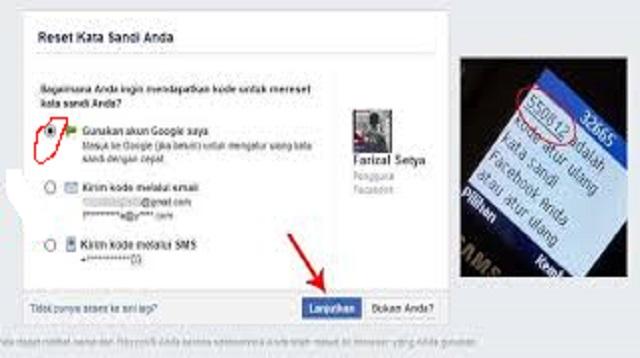 Lupa Kata Sandi Facebook dan No HP Hilang Dengan Email