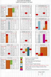 Download Lengkap Kalender Pendidikan Tahun Ajaran 2017/2018