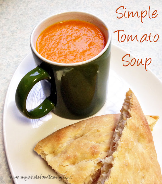 Simple tomato soup from www.mywholefoodfamily.com