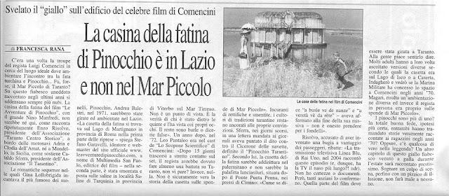 La leggenda sulla Casa della Fatina del film a puntate su Pinocchio, di Luigi Comencini