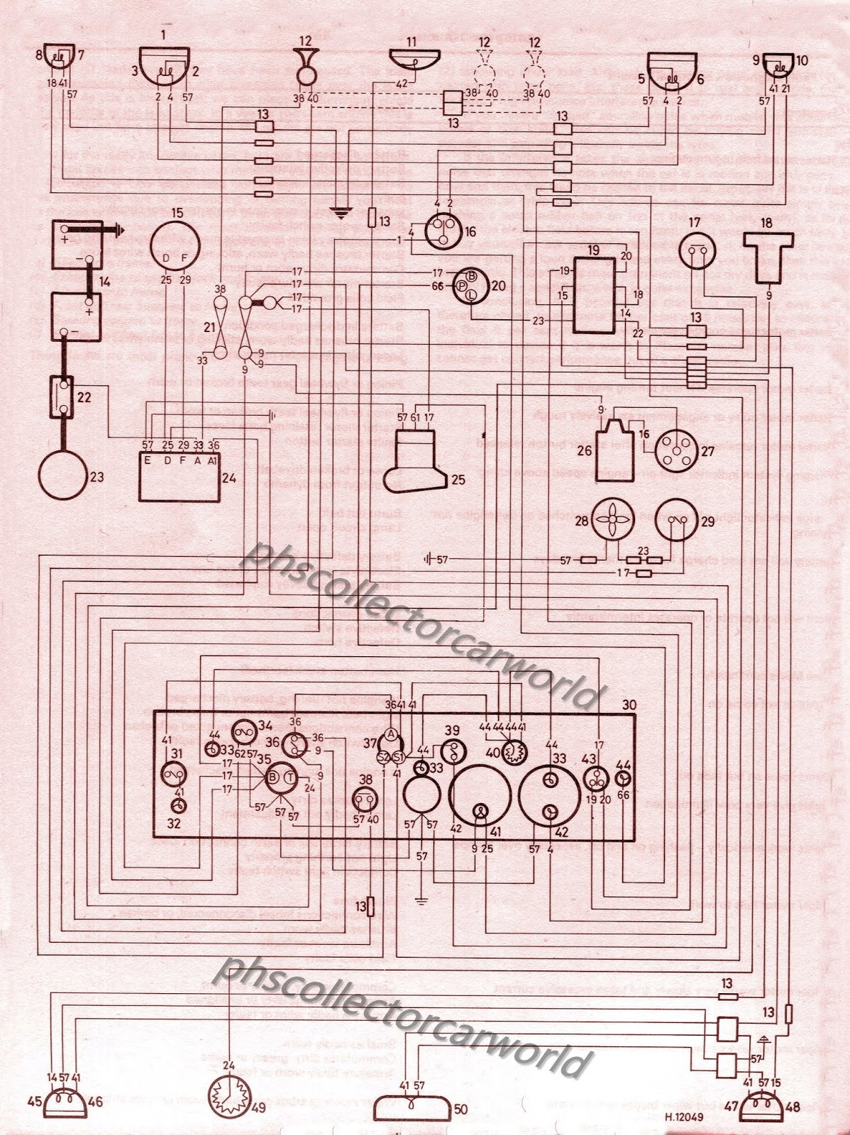 phscollectorcarworld: PHS Tech Files: MGA Wiring Schematicsphscollectorcarworld