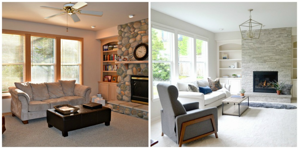 Updating a 90's Model Home Living Room Reveal - Rachel Teodoro on 90 Room  id=46702