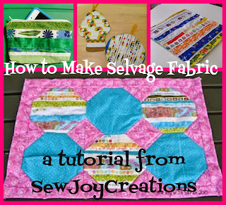 make fabric out of selvages to use in your quilting projects with this tutorial