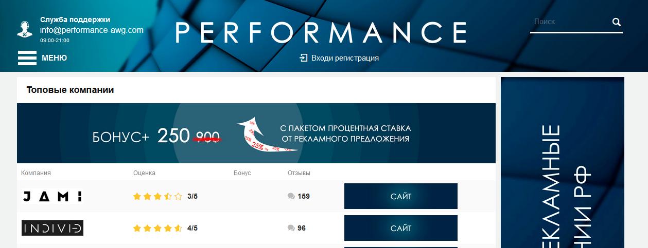 Мошеннический сайт performance-awg.com – отзывы, обман, мошенники! Компания Performance